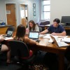 Students at work in the Gene Michaels room